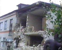 Фото с места катастрофы Ту-134А в Иваново в 1992 году