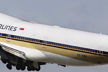 Боинг 747-400 Сингапурских Авиалиний