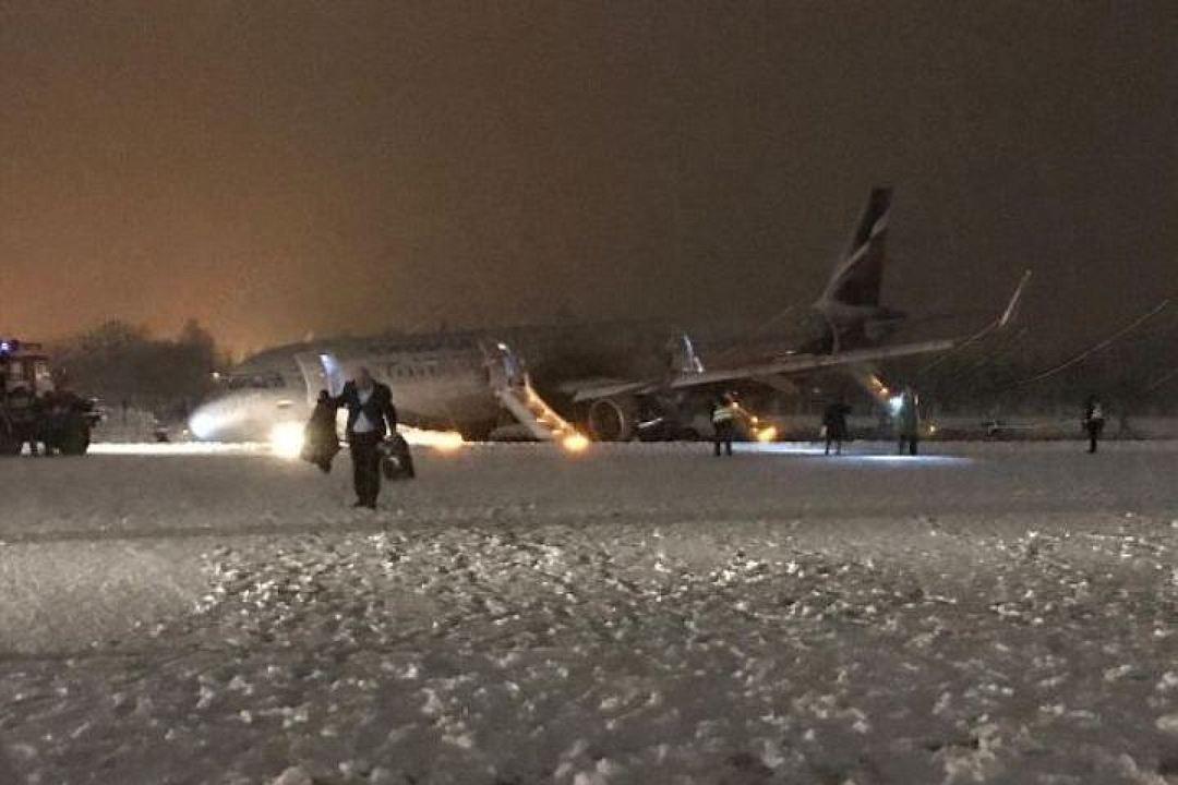 Эвакуация пассажиров su1008 в Храброво